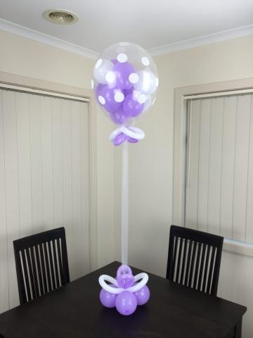 Balloon Single Gumball 40cm Polka Dot Centre Piece