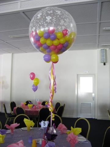 Balloon Table Centre Piece Jumbo 3ft Gumball